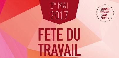 1er mai f te du travail agenda - Fete du travail 2017 ...