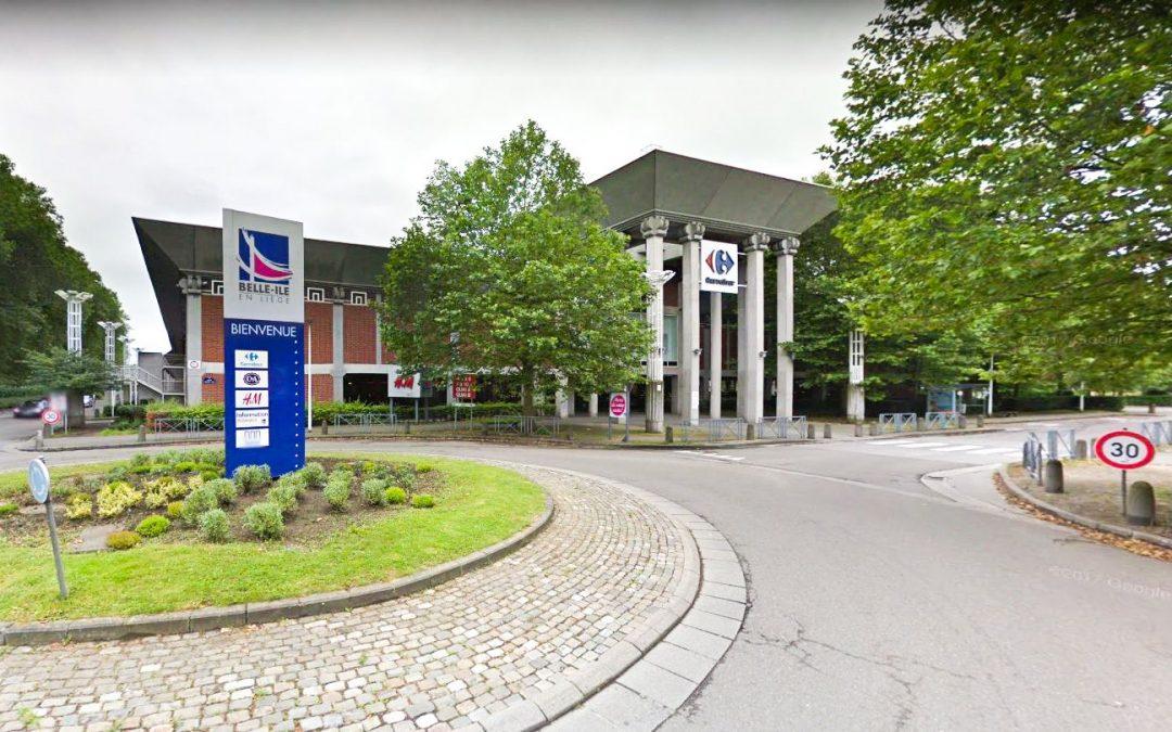 Le centre commercial Belle-Ile en Liège inaccessible aujourd'hui
