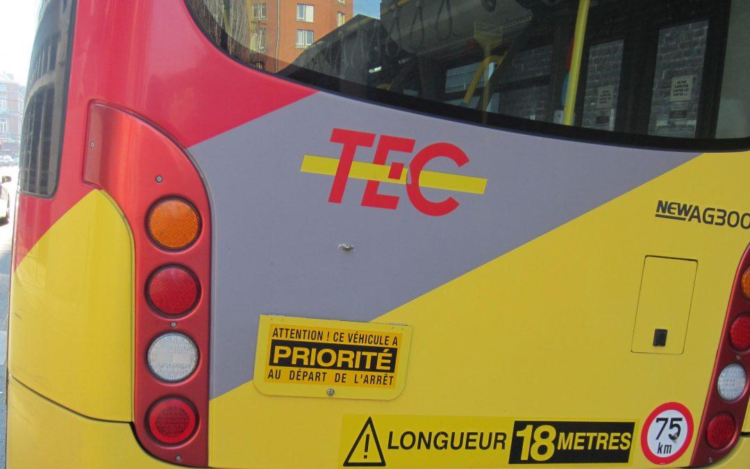 Les bus TEC déviés entre les arrêts « Angleur Gare » et « Liège Belle-Ile »