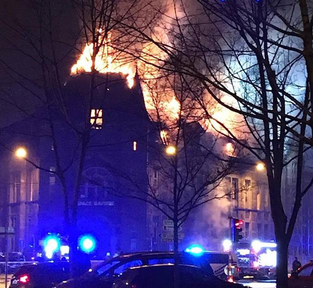L'ancien hôpital de Bavière a pris feu cette nuit