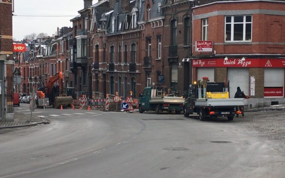 La rue de Campine fermée à la circulation cette semaine suite à un effondrement