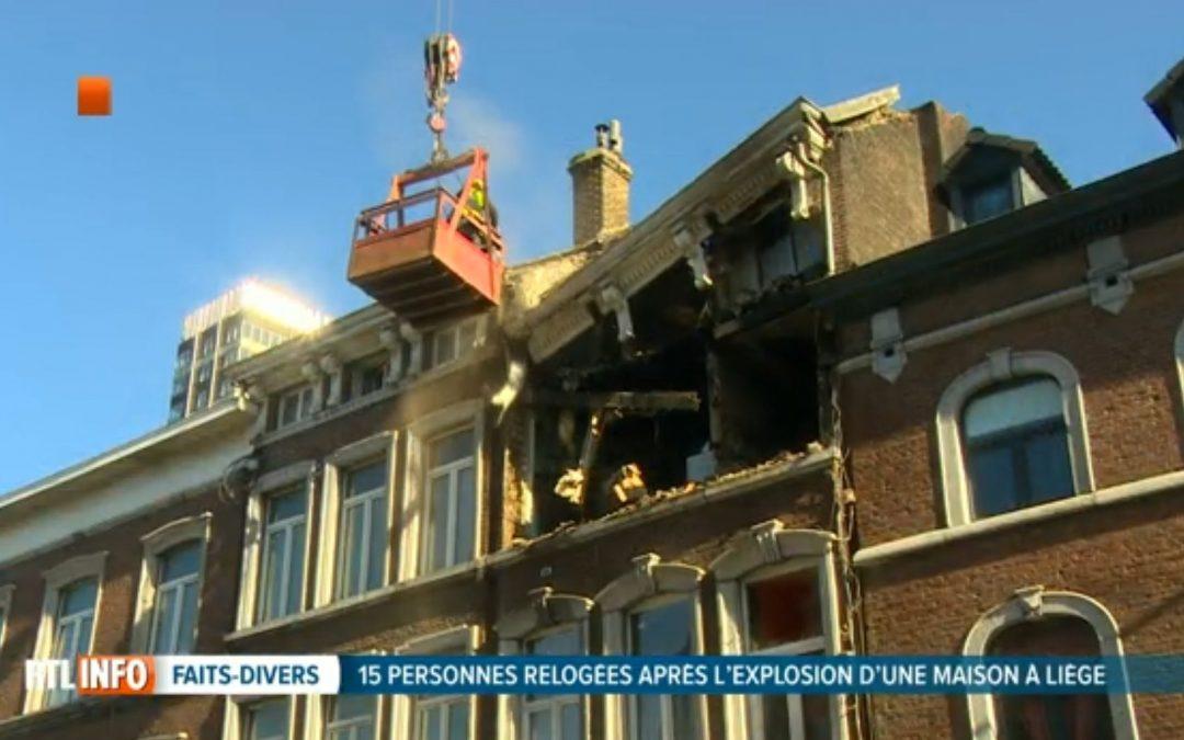 La rue Grétry reste fermée plusieurs jours à cause de l'explosion de gaz