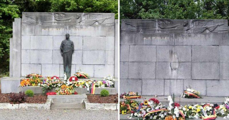 La statue d'hommage aux anciens combattants volée à la Chartreuse à été retrouvée