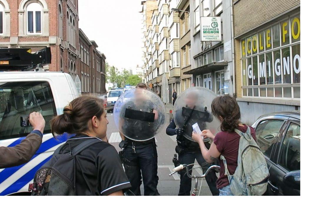 Branle-bas de combat de la police liégeoise contre un groupe de cyclistes