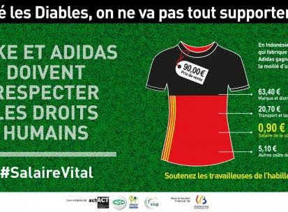 Un tournoi de kicker géant pour dénoncer les pratiques de Nike et d'Adidas