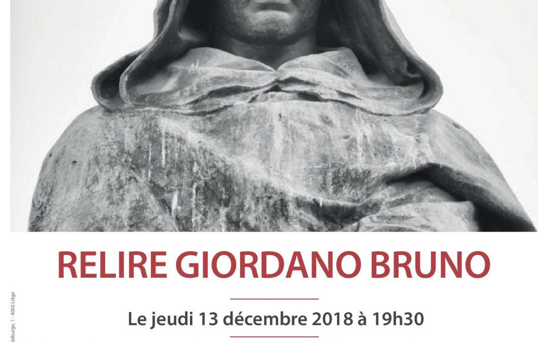 Agenda ► Relire Giordano Bruno