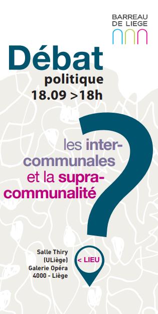 Agenda ► Débat politique sur les intercommunales et la supracommunalité