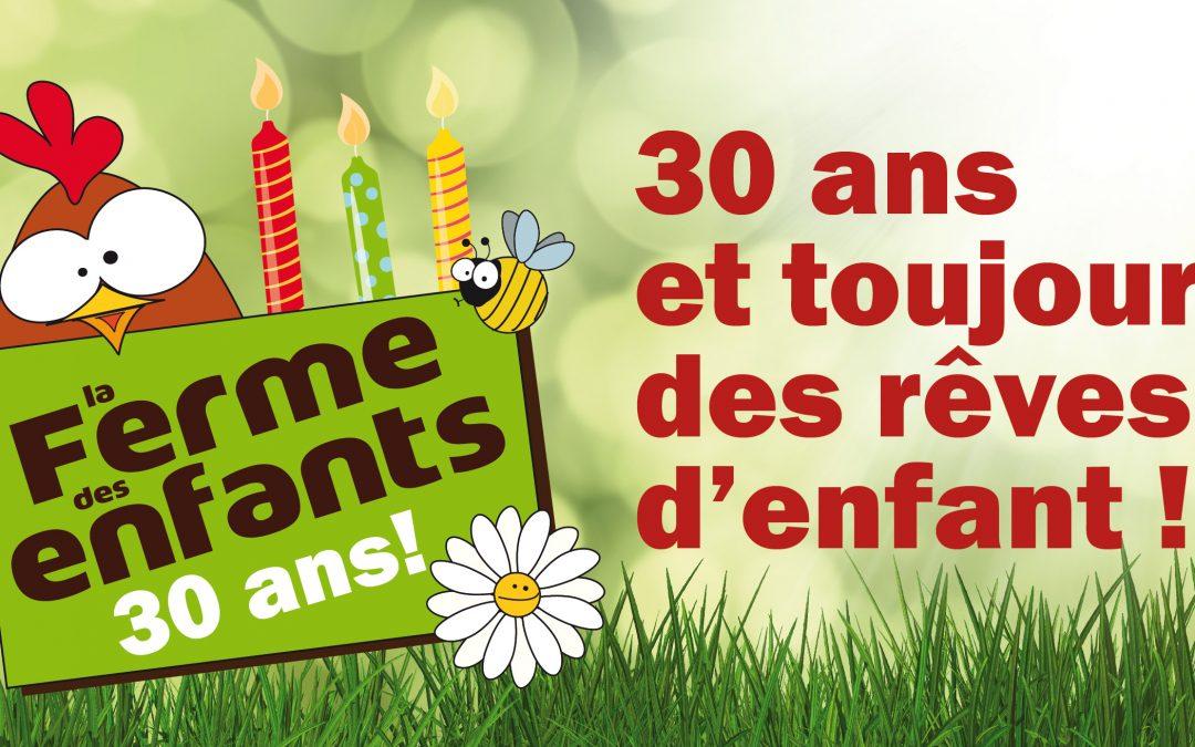 Agenda ► La Ferme des enfants fête ses 30 ans !