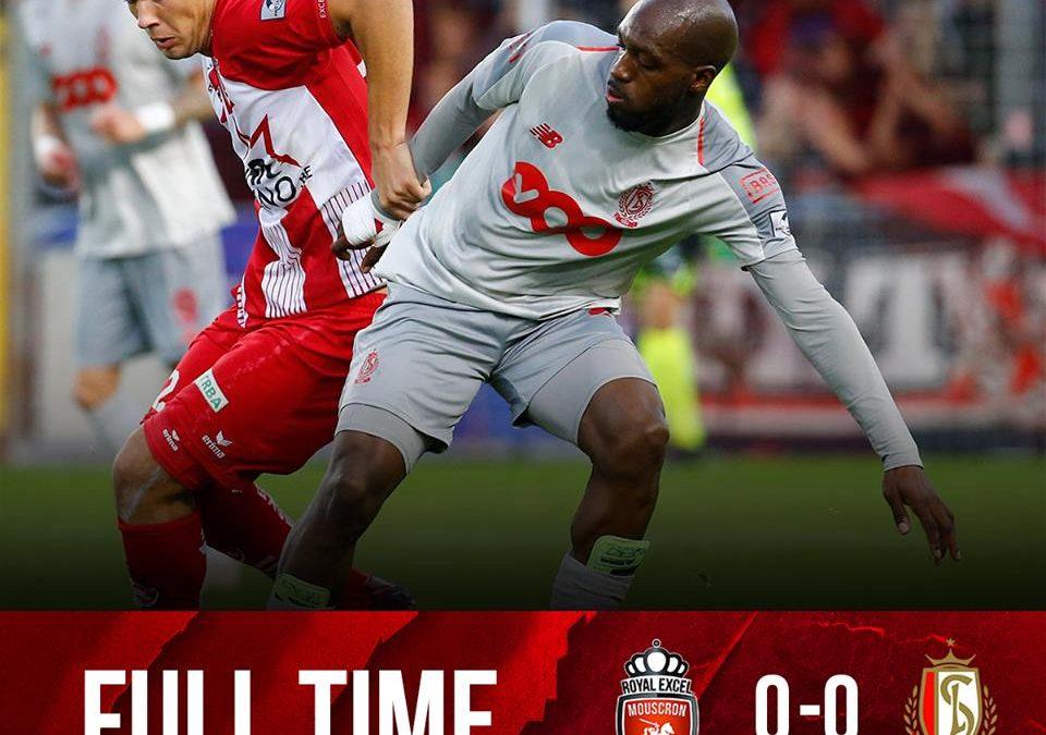 """Le Standard contraint au nul sur le terrain de Mouscron après sa victoire face à Bruges : """"On a du mal face aux petites équipes"""""""