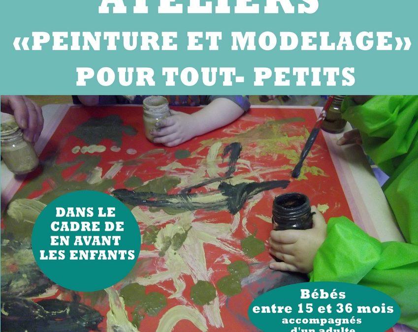 Agenda ► 3 ateliers «Peinture et modelage» pour tout- petits