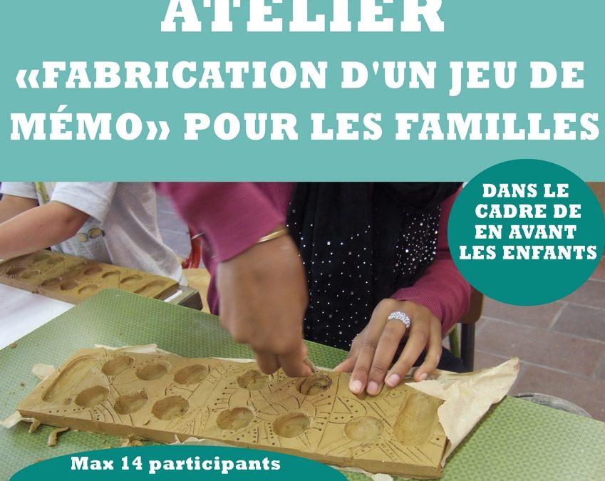 Agenda ► Atelier «Fabrication d'un jeu de mémo» pour les familles