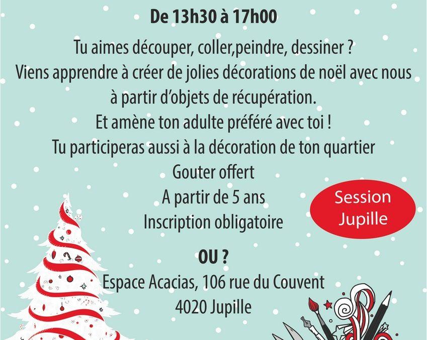 """Agenda ► Atelier créatif """"Spécial NOËL"""" – session Jupille"""