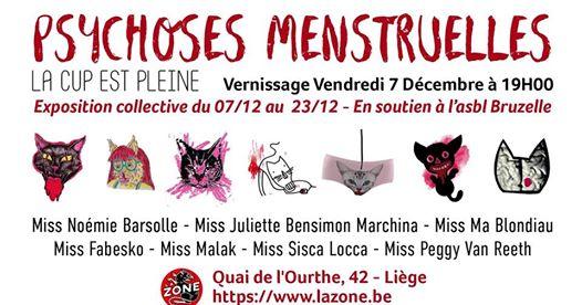 Agenda ► Psychoses menstruelles // 7 artistes sans règles