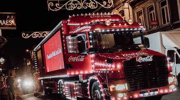 Le camion de Noël Coca-Cola à la Médiacité ce mercredi