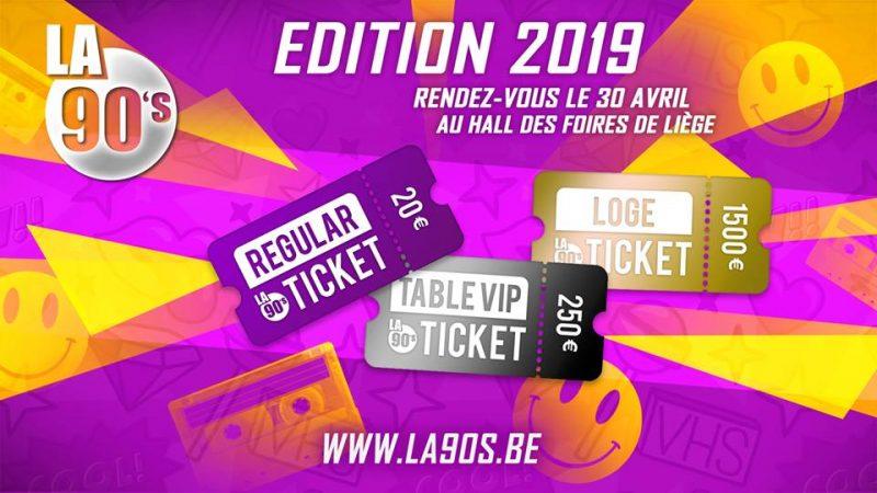 Agenda ► La 90's Liège 2019