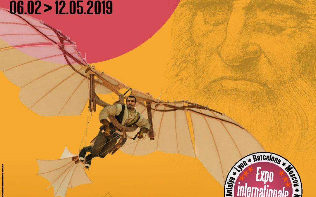 """Agenda ► Expo : """"Leonardo da Vinci – Les inventions d'un génie"""" – Du 06/02 au 12/05/2019"""