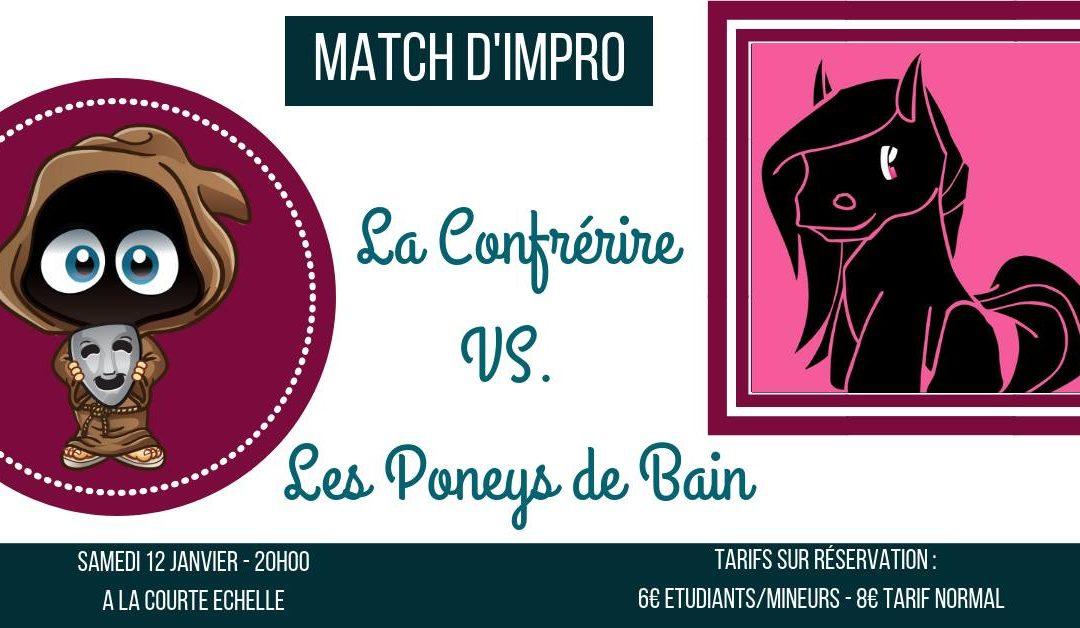 Agenda ► Match d'impro : La Confrérire VS. Les Poneys de Bain