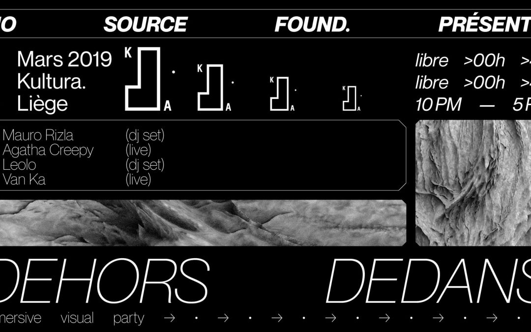 Agenda ► Dehors.Dedans 1 w/ Mauro Rizla, Agatha Creepy [live]