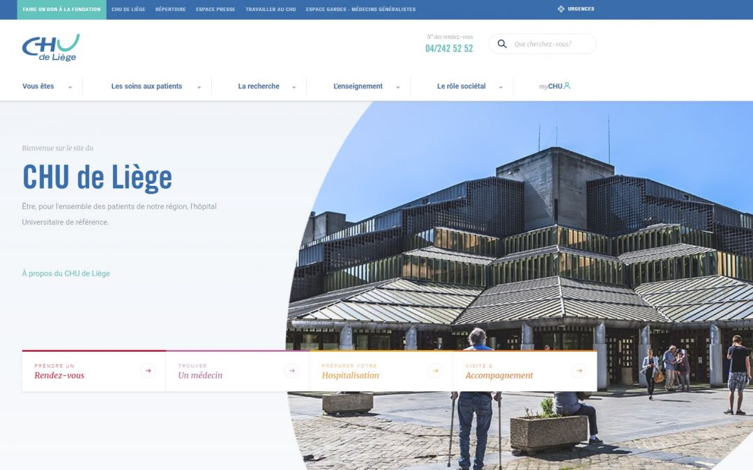 Le CHU a un nouveau site web depuis la semaine passée