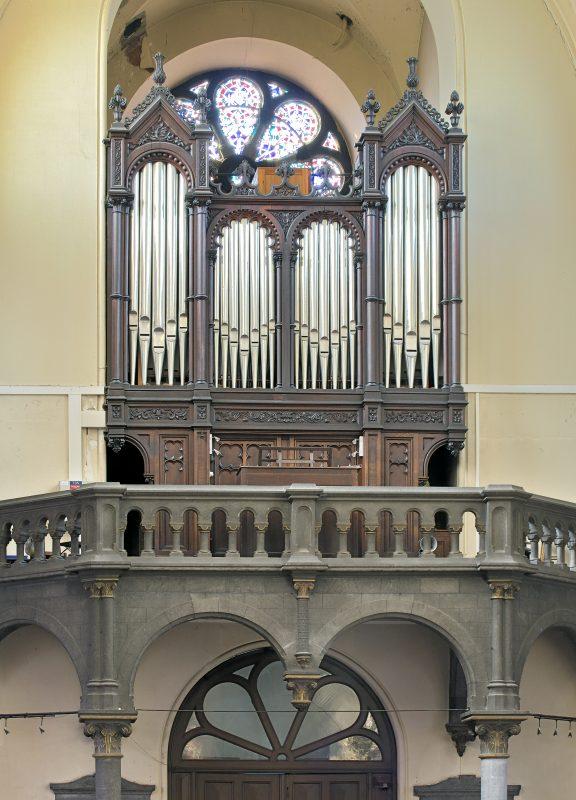 Visite guidée de l'orgue de l'église Ste-Marie-des-Anges à Liège. Sur rendez-vous