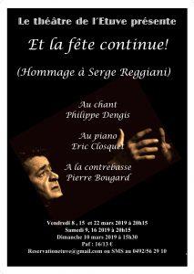 Agenda ► ET LA FÊTE CONTINUE !  Hommage à Serge REGGIANI.