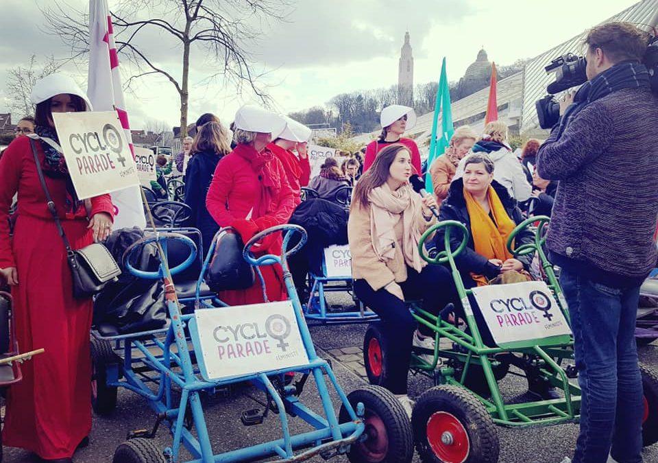 1.700 personnes à la cyclo-parade du 8 mars à l'occasion de la journée des droits de la femme