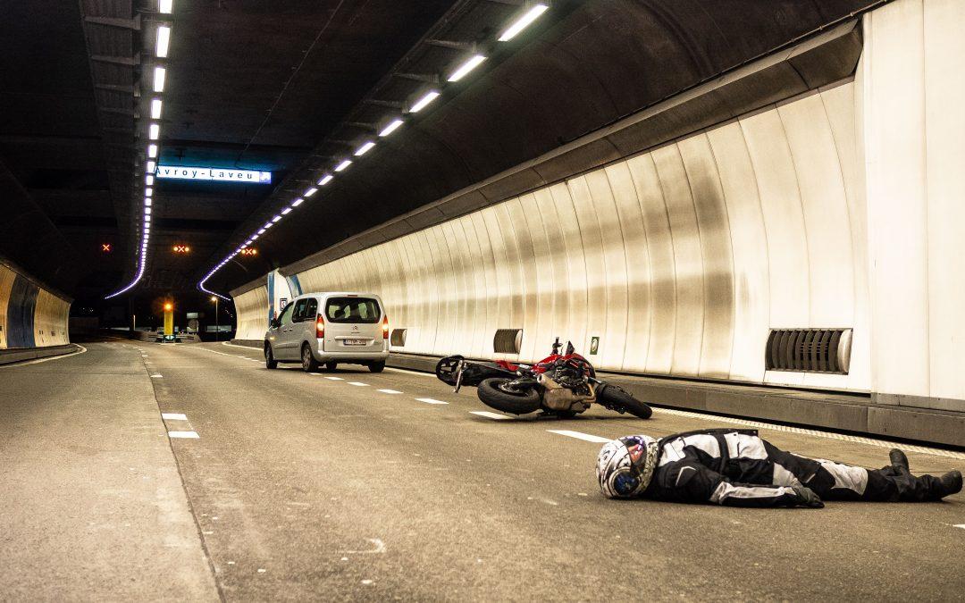 Accident de moto cette nuit dans le tunnel de Cointe pour les besoins d'un film