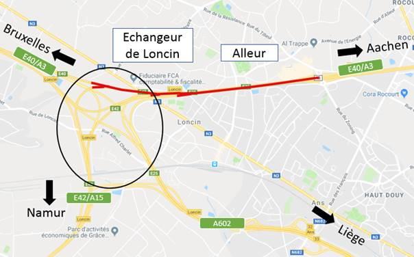 Travaux sur l'autoroute entre Alleur et Loncin qui passera de trois à quatre bandes dans chaque sens