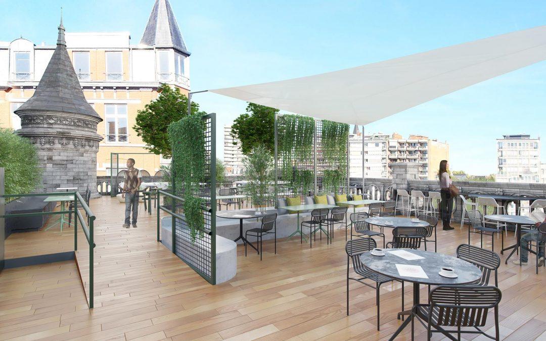 Grand Poste: bientôt la terrasse la plus chic de Liège?