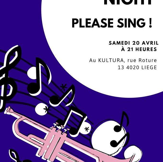 Agenda ► Karaoké night – Please sing