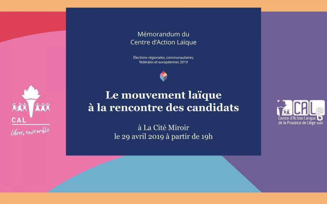 Agenda ► Le mouvement laïque à la rencontre des candidats