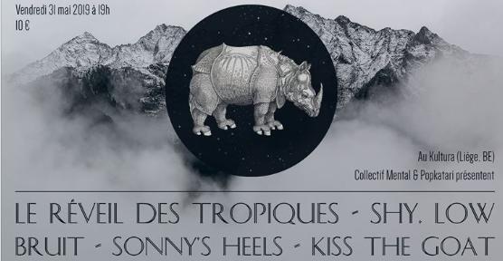 Agenda ► Le réveil des tropiques/ShyLow/Bruit/Sonny's Heels/Kiss the goat