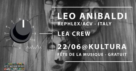 Agenda ► Leo Anibaldi IT/Rephlex/ACV – Fête de la Musique à Liège – LEA