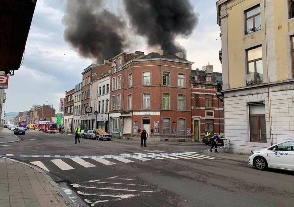 Important incendie rue Grétry ce samedi: il n'y a pas de blessés