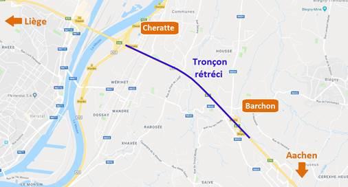 E40/A3 – Cheratte-Barchon : modification des conditions de circulation suite au projet ALEGrO