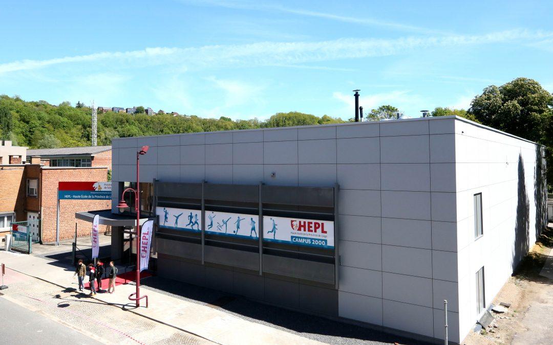Inauguration d'un hall sportif à Jemeppe de la Haute Ecole de la Province de Liège