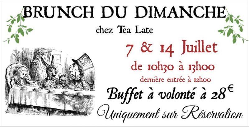 Agenda ► Brunchs dominicaux de Juillet chez Tea Late