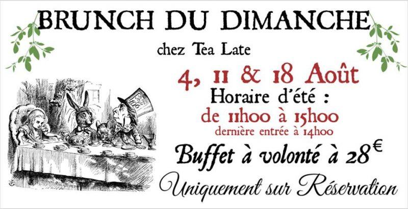 Agenda ► Brunchs Dominicaux d'Août chez Tea Late