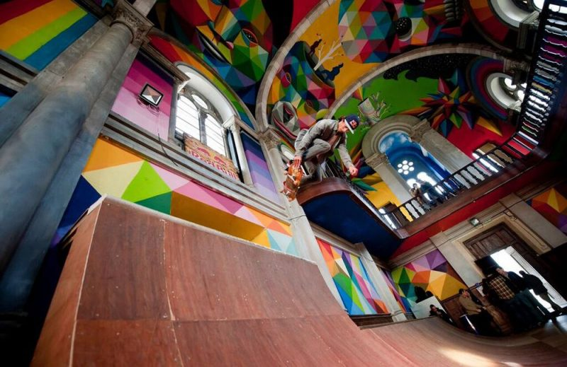 Projet de ville:  aménager un skatepark dans une ancienne église du centre de Liège, etc…