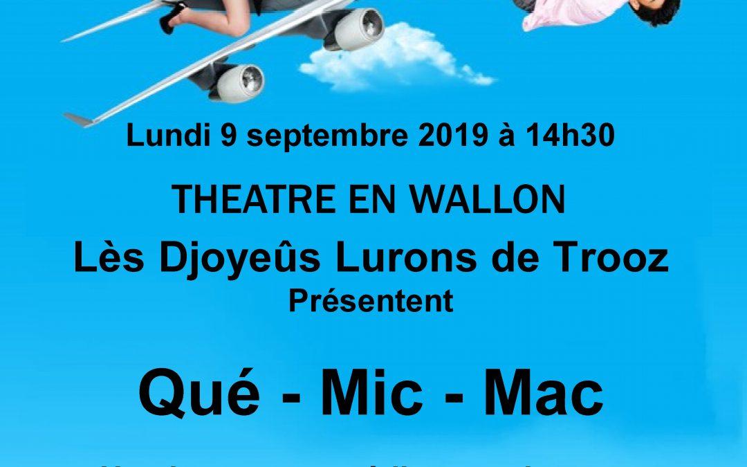 Agenda ► Théâtre en Wallon «Qué Mic Mac»