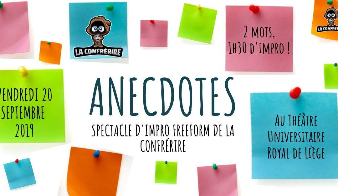 Agenda ► Anecdotes : Spectacle d'impro Freeform de La Confrérire