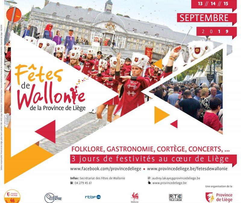 Agenda ► Les Fêtes de Wallonie 2019
