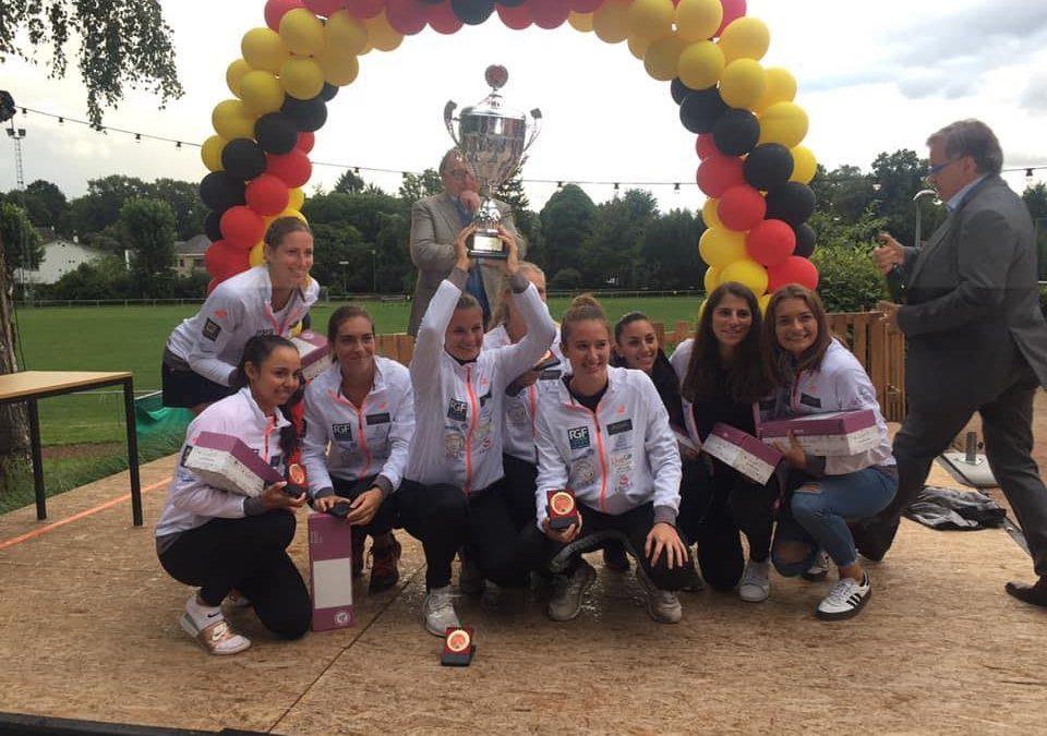 Les dames du club de tennis d'Embourg championnes de Belgique pour la première fois