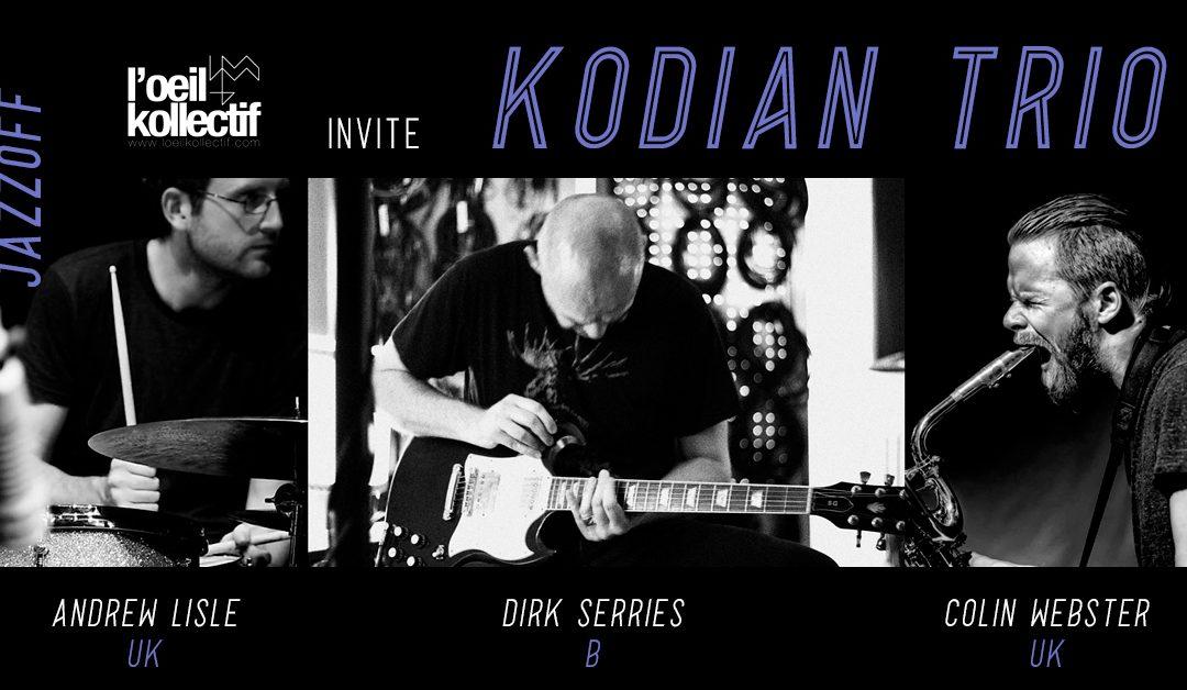 Agenda ► JazzOff / L'oeil kollectif invite Kodian Trio