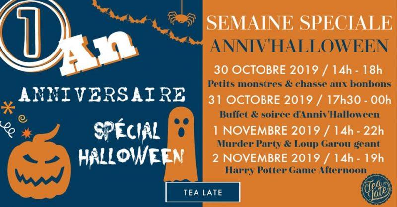 Agenda ► Anniv'Halloween spécial 1 an chez Tea Late !