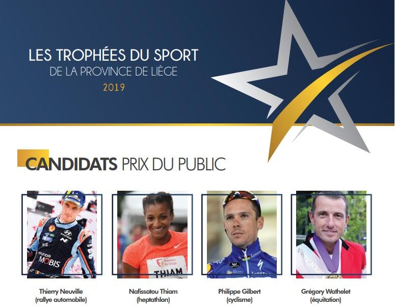 Votez pour votre sportif liégeois de l'année grâce aux Trophées du Sport de la Province de Liège
