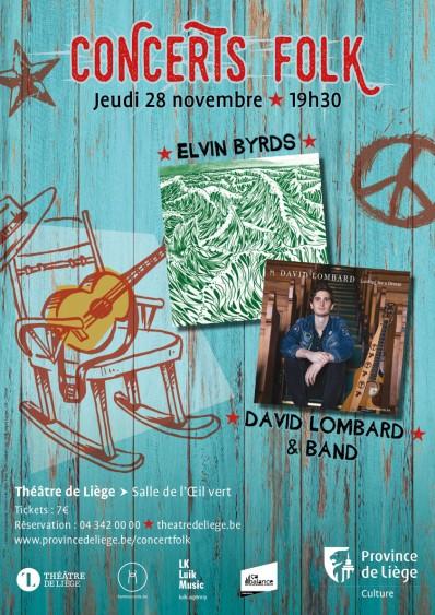 Agenda ► Concert folk : Elvyn Byrds et David Lombard & Band