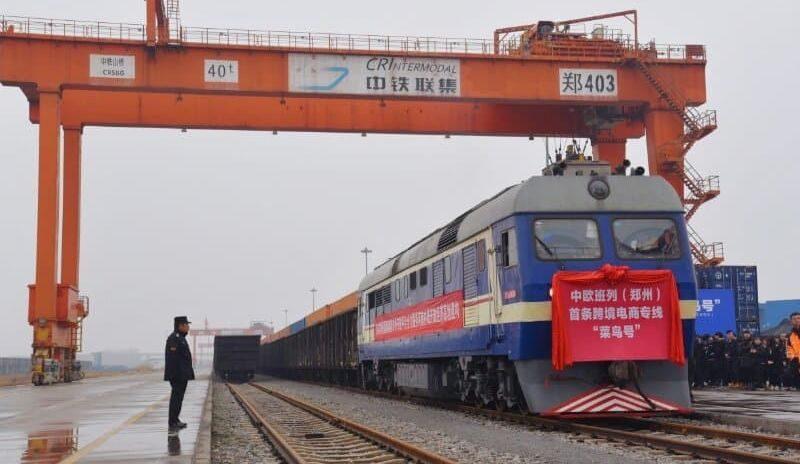 Un train de marchandises d'Alibaba a quitté la Chine en direction de Liège