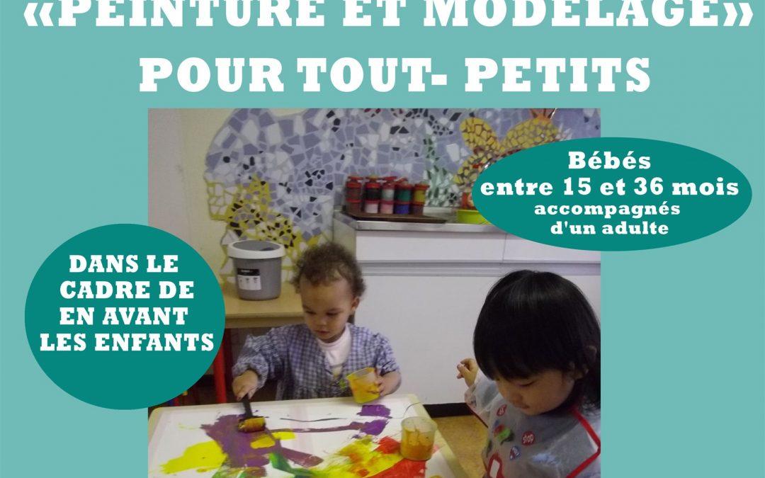 """Agenda ► Atelier """"peinture et modelage"""" pour les tout-petits"""