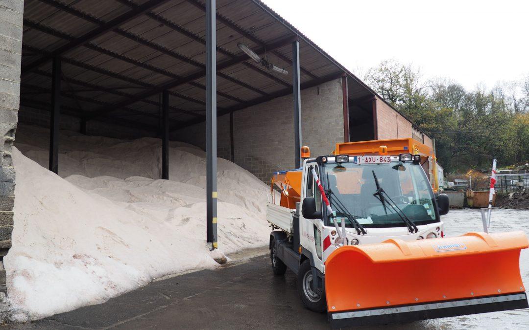 Avec 4000 tonnes de sel pour les routes, Liège est prête à affronter un hiver rigoureux